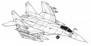 Схема истребителя МИГ-29К