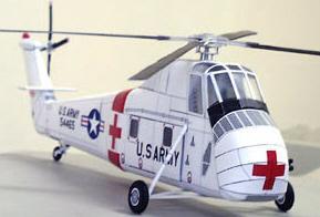 Бумажная модель вертолёта Sikorsky CH-34C/UH-34D
