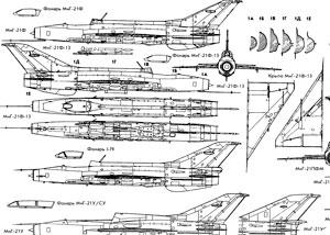 чертежи MiG-21