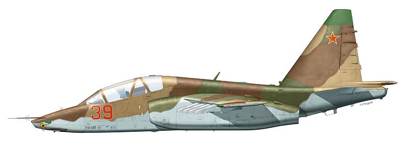 "Су-25УБ ""борт 39"" предположительно 461-го ШАП, аэродром Краснодар. (По информации А. Короткова)"