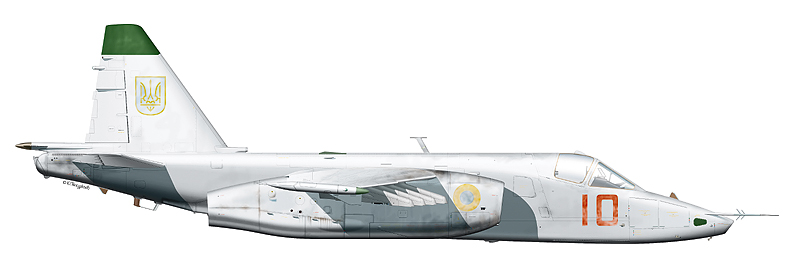 "Су-25 ""борт 10"" авиации ВМФ Украины, аэродром Саки."
