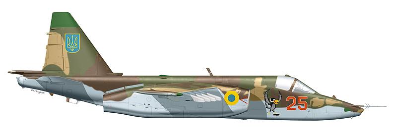 """Су-25 """"борт 25"""" ВВС Украины."""