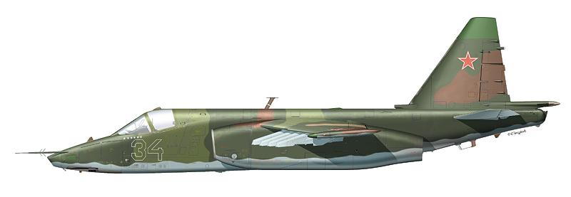 """Су-25 """"борт 34"""""""