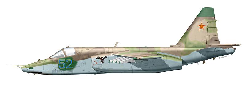 """Су-25 """"борт 52"""""""