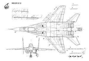 Чертежи истребителей МиГ-29