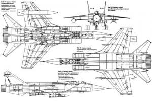 Чертежи МИГ-31