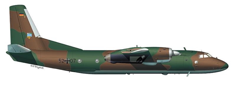 Ан-26 24-й транспортной эскадрильи ВВС ФРГ (По материалам Д. Комиссарова)