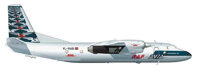 Ан-26 авиакомпании RAF-Avia (По материалам Д. Комиссарова)