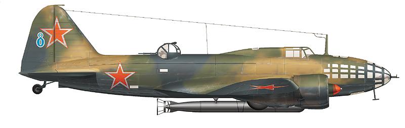 """Торпедоносец Ил-4 """"голубая 8"""" 4-го МТАП, август 1945 г."""