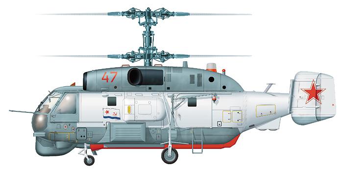 """Ка-27ПС """"борт 47"""" ВМФ СССР в стандартной бело-серой окраске"""