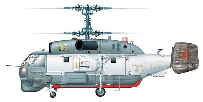 """Ка-27ПС """"борт 97"""" 38-го ОКПЛВП Северного флота."""