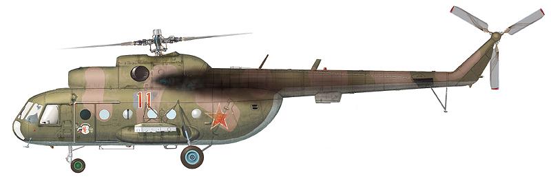"""Ми-8Т """"борт 11"""" 1-й АЭ 440-го ОТБВП(БУ) ГСВГ, аэродром Стендаль, февраль 1992 г. (По материалам С. Пазынича)"""