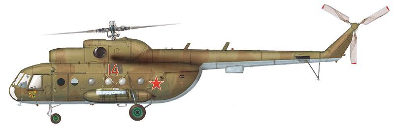 """Ми-8Т """"борт 14"""" 1-й АЭ 440-го ОТБВП(БУ), аэродром Вязьма, лето 1997 г. 440 ОТБВП(БУ) перебазировался в Смоленскую область из Германии в 1994 г. (По материалам С. Пазынича)"""