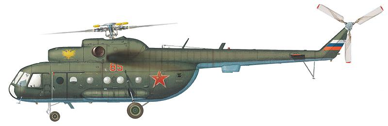 "Ми-8ТП (полусалон) ""борт 85"" (зав.№ 99154136) 226-го ОСАП, аэродром Кубинка, март 1999 г. (По материалам С. Пазынича)"