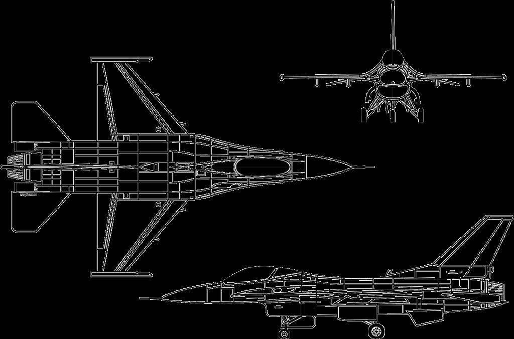 Схема истребителя F-16