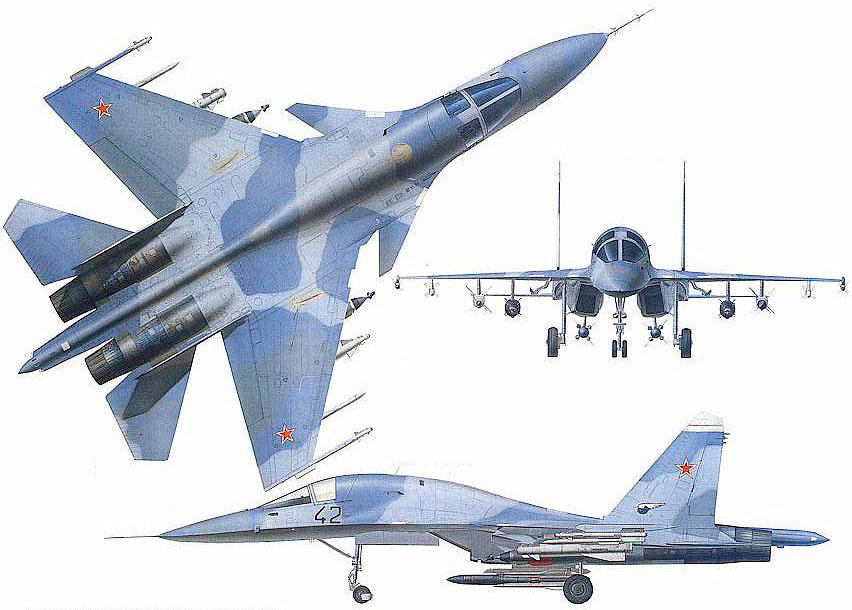 Схема окраски самолёта Су-34