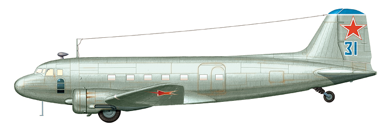 Ли-2Т в послевоенной окраске, 1946 г.