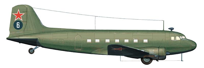 Ли-2, базировавшийся в Манчжурии, аэродром Мукден, 1945 г.