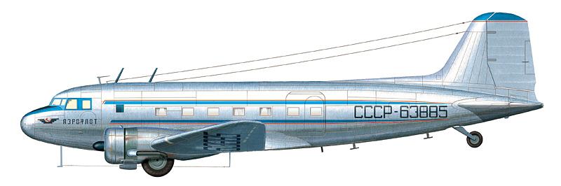 Ли-2П СССР-63885 авиакомпании АЭРОФЛОТ, аэродром Салехард, 1964 г.