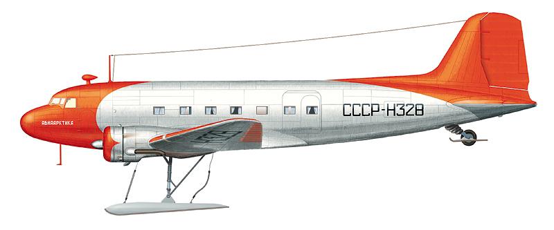 """Ли-2 СССР-Н328 """"Авиаарктика""""."""