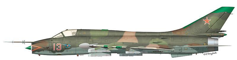 """Су-17М3 """"борт 13"""" 1-й АЭ 168-го АПИБ 36-й АДИБ, аэродром Большие Шираки, Грузия, 1982 г."""