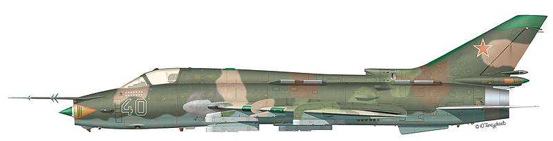 """Су-17М """"борт 40"""" 302-го АПИБ 33-й АДИБ 1-й ВА ВВС ДВО, аэродром Переяславка, 1989 г."""