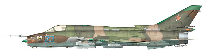 "Су-17М4 ""борт 23"" ""Черный дьявол"" 274-го АПИБ, Афганистан, весна 1988 г."