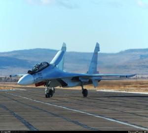 Истребители СУ-30СМ поступили на вооружение в САП на аэродроме Домна